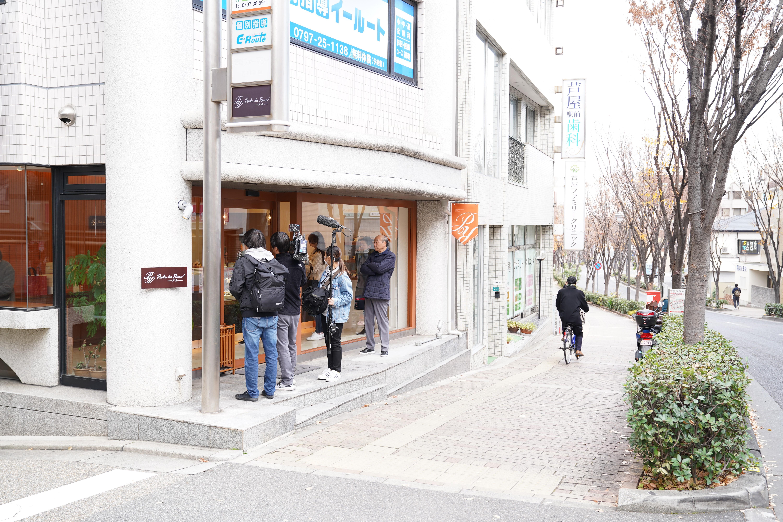 読売テレビから「洋菓子店の倒産が増えている件」についての取材がありました